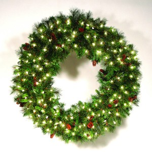 "LED Mixed Noble Wreath 48"" Warm White"