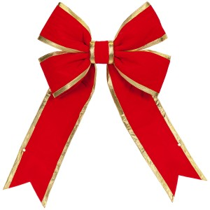 Red Bow with Gold Trim – 24""
