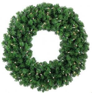 Sierra Wreath Clear Lights