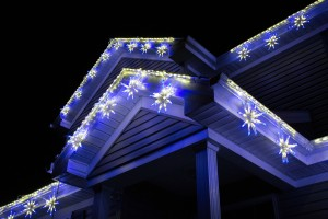 3D Starburst Light Links Blue and Pure White