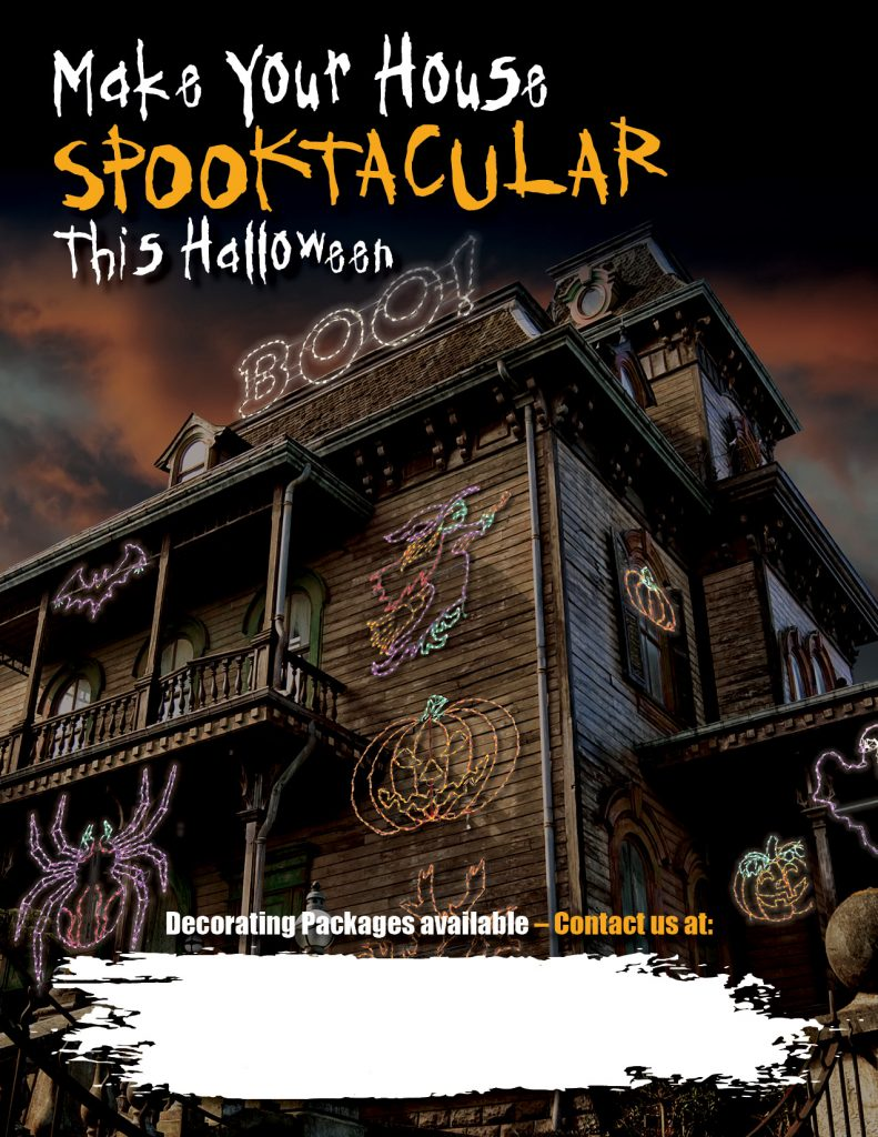 Halloween Flyer for Professional Decorators by holiday bright lights