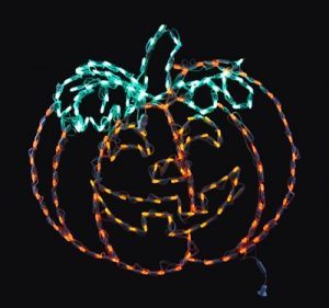 LED Pumpkin Halloween decor by holiday bright lights