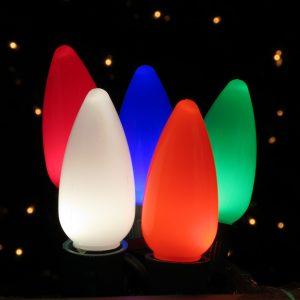 Holiday Bright Lights LED C9 Opaque Multi