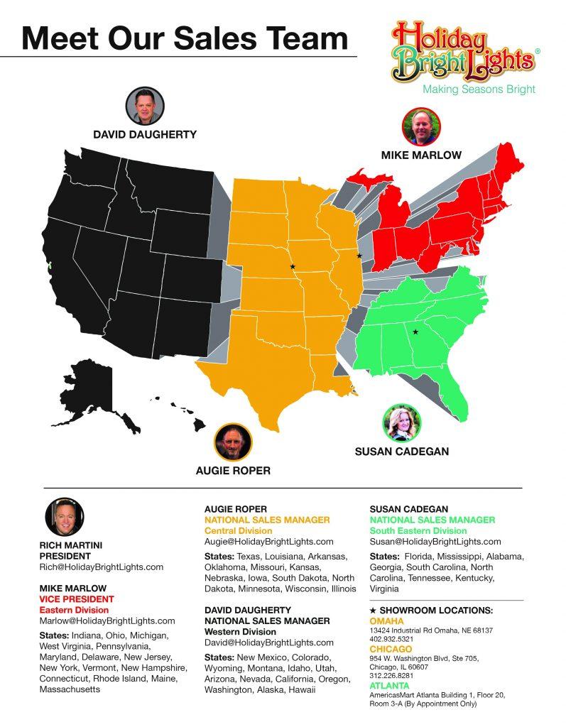 HBL Sales Team Map
