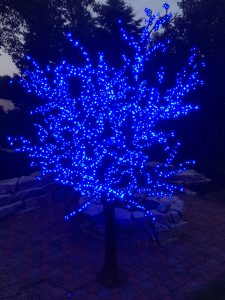 8.5' LED Cherry Blossom Tree - Realistic Trunk