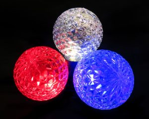 LED G50 SMD Bulbs - Red, Pure White, Blue