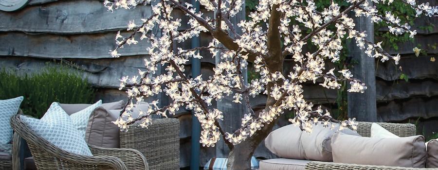 led cherry trees