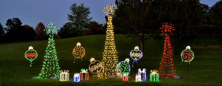 lighted lawn decor