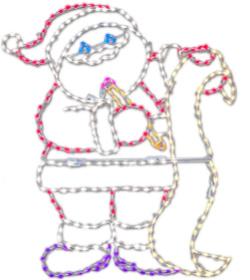 santa with list led decoration